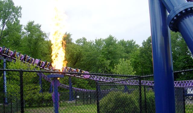 Bizarro Flies Past a Flame!