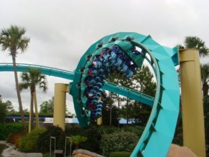 Kraken's final inversion, a corkscrew.