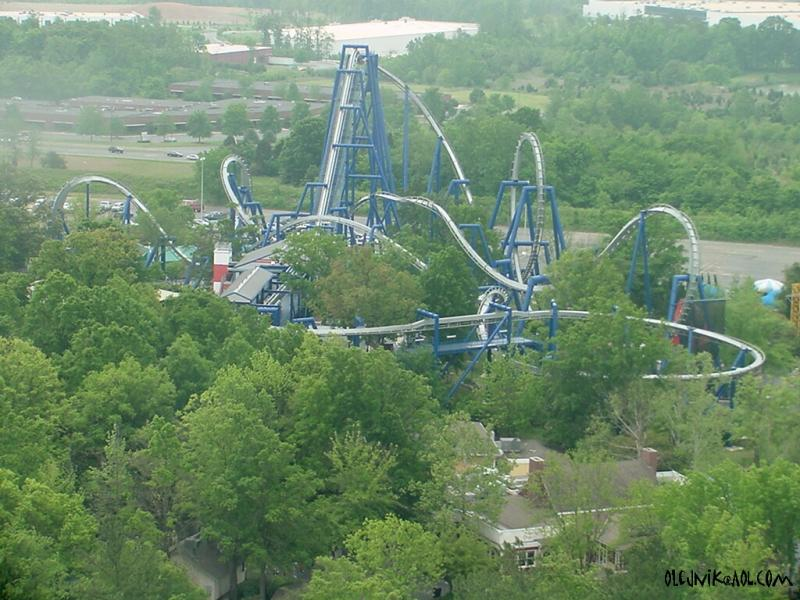 The Layout of Afterburn at Carowinds