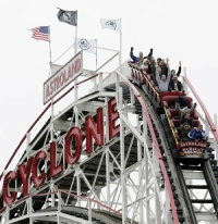 Cyclone Roller Coaster Coney Island