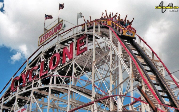 The Cyclone at Astroland - Coney Island, Bronx, New York City