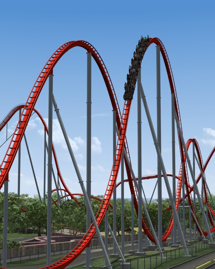 Intimidator's Airtime Hills - Carowinds 2010