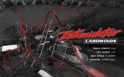 Intimidator Overview - Carowinds 2010