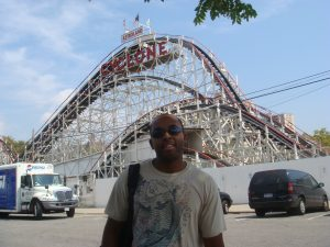 Me in front of the Cyclone