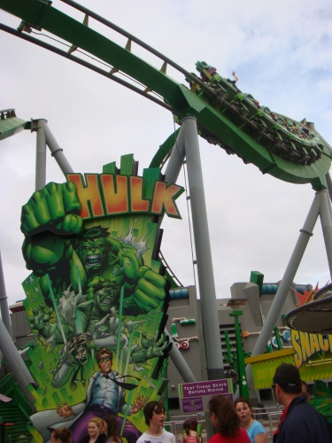 Incredible Hulk Coaster at Islands of Adventure