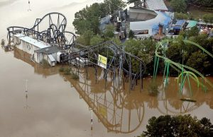 Six Flags Over Georgia Flooded
