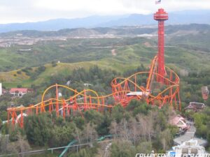 Tatsu's Layout - Six Flags Magic Mountain