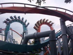 Dueling Dragons Vertical Loops