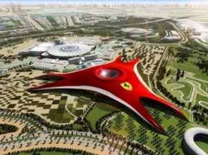 Ferrari World Opening in Abu Dhabi in 2010