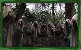 Thirteen Surrounded by Creepy Figures - Alton Towers