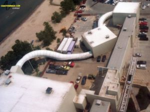 Aerial View of Disaster Transport at Cedar Point