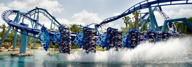 Manta at SeaWorld - flying roller coaster