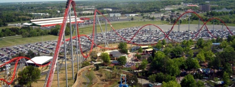 Intimidator at Carowinds - Aerial View
