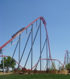 Intimidator at Carowinds - Lift Hill
