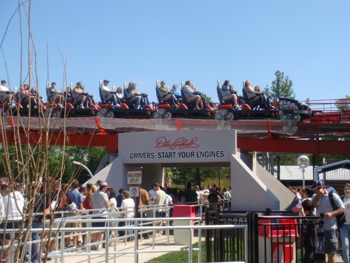Intimidator at Carowinds - Trains Returning to the Station