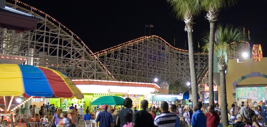 Swamp Fox at Family Kingdom at Night