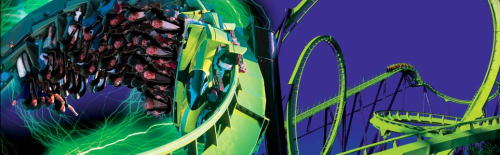 Green Lantern Roller Coaster - Six Flags Great Adventure