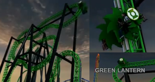 Green Lantern Roller Coaster - Six Flags Magic Mountain 2011
