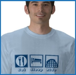 Eat Sleep Ride Roller Coaster TShirt