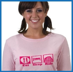 Eat Sleep Ride Roller Coasters Womens TShirt