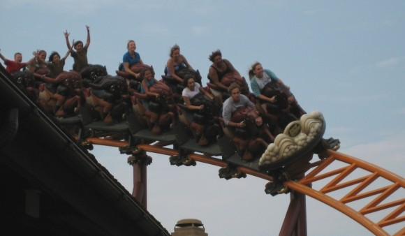 pony-express-at-knotts-berry-farm---steeplechase-scream-zone
