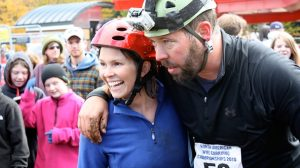 Bert Carries His Wife in Wife Carrying Competition