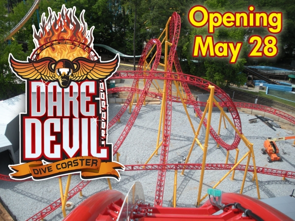 New Dare Devil Dive Roller Coaster - Six Flags Over Georgia