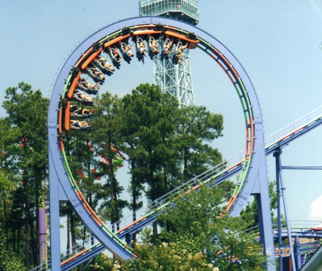 Shockwave - Kings Dominion - Stand Up Roller Coaster