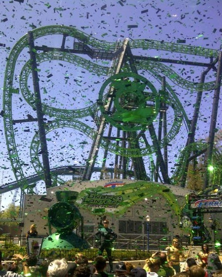 Green Lantern First Flight Opens at Six Flags Magic Mountain