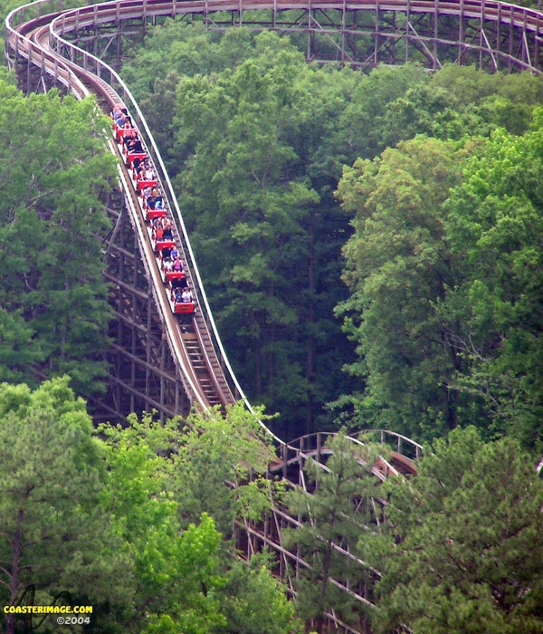 Grizzly Kings Dominion - Roller Coaster Review - Second Drop