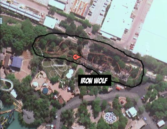 Iron Wolf Leaving Six Flags Great America