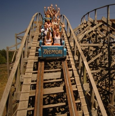 Tremors Roller Coaster at Silverwood Theme Park