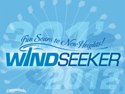 Carowinds WindSeeker Logo - New 2012 Ride