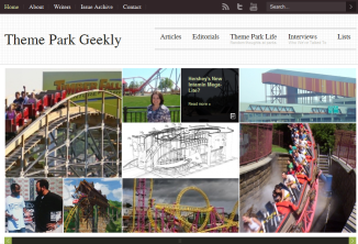Theme Park Geekly Teaser -  Possible Home Page