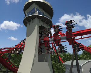 X-Flight-Six-Flags-Great-America-Roller-Coaster