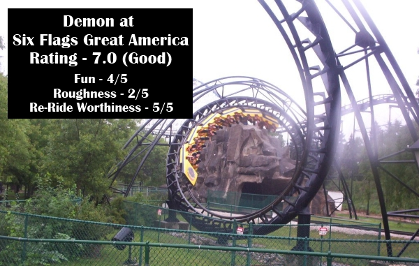 Demon at Six Flags Great America - Ratings Reviews