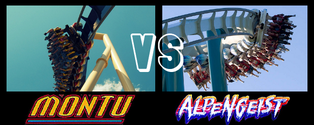 Montu vs Alpengeist - Roller Coaster Showdown