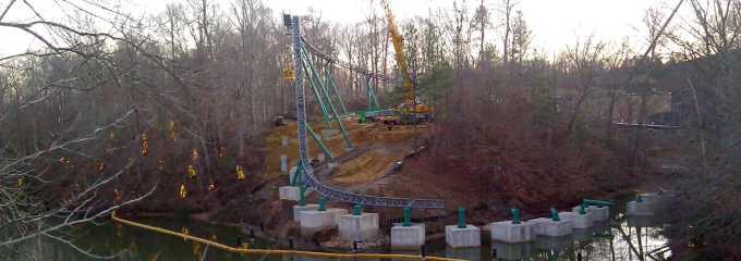 Verbolten Construction Photo - Busch Gardens Williamsburg