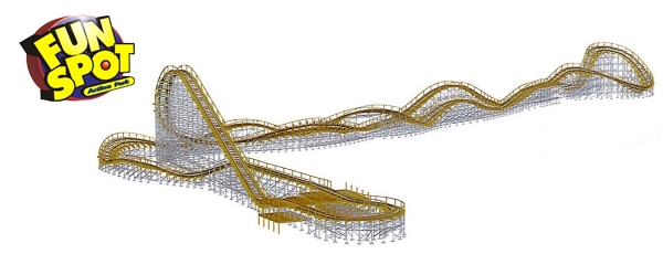 White Lightning Wooden Roller Coaster Coming to Fun Spot Action Park