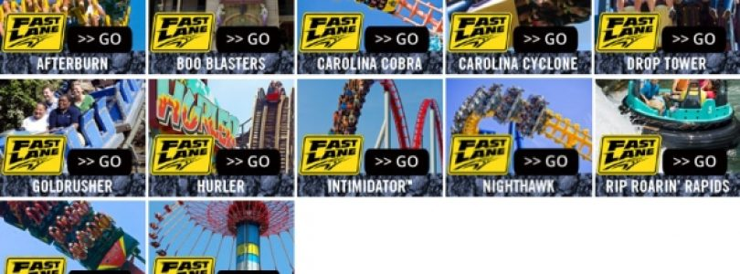 Carowinds' 2012 Fast Lane Attractions