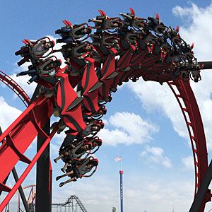 X-Flight at Six Flags Great America - Wing Rider Coaster