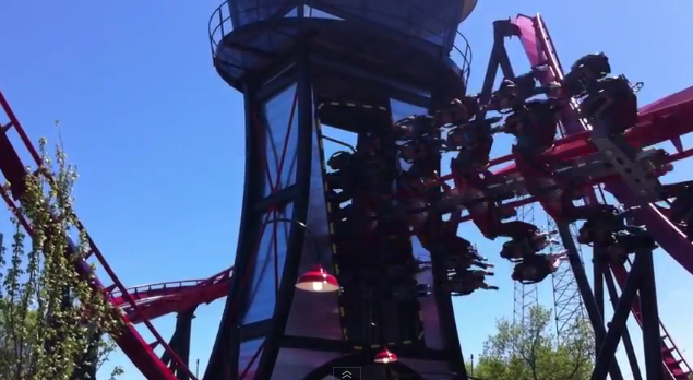 X-Flight - Flight Tower - Six Flags Great America