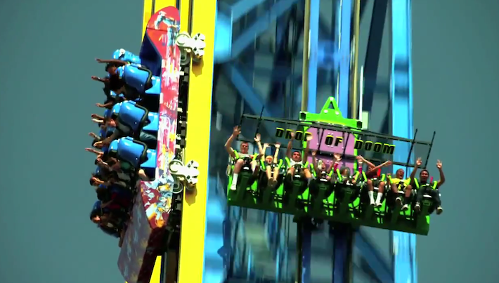 Lex Luthor Drop of Doom - Six Flags Magic Mountain