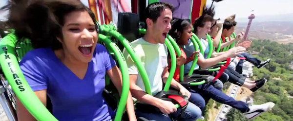 Lex Luthor Drop of Doom at Six Flags Magic Mountain