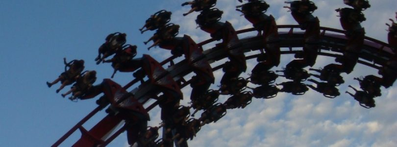 X-Flight @ Six Flags Great America   Roller Coaster Review