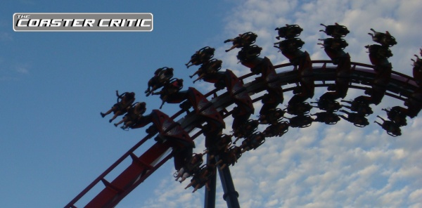 X-Flight Roller Coaster Mid Air