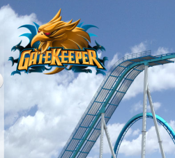 Cedar Point -  2013 Wing Roller Coaster Train - Gatekeeper Logo