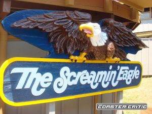 Six Flags St Louis - Screamin Eagle - Sign