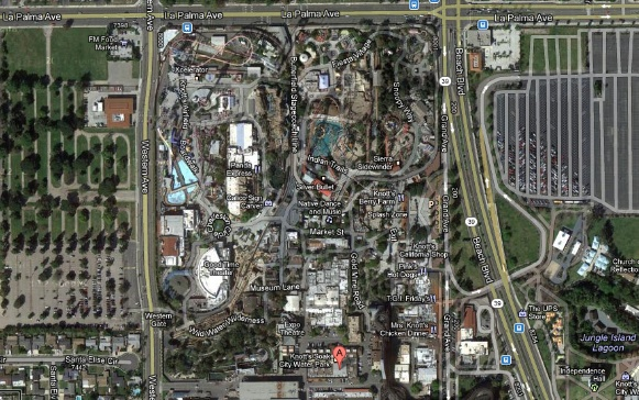 Knotts Berry Farms - Satellite View