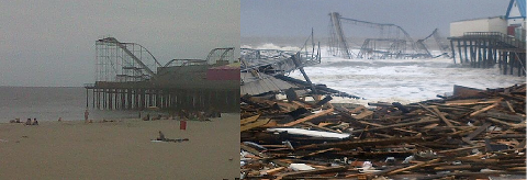 Casino Pier - Hurricane Sandy - Before & After